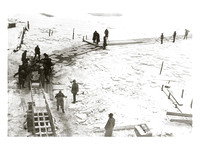 Ice-cutting, believed to be Montauk, undated