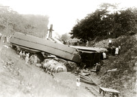 Train wreck, Montauk, 1930s