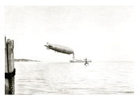 Navy Dirigible, Fort Pond Bay, Montauk