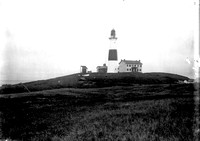 Montauk Lighthouse, undated glass-plate negative