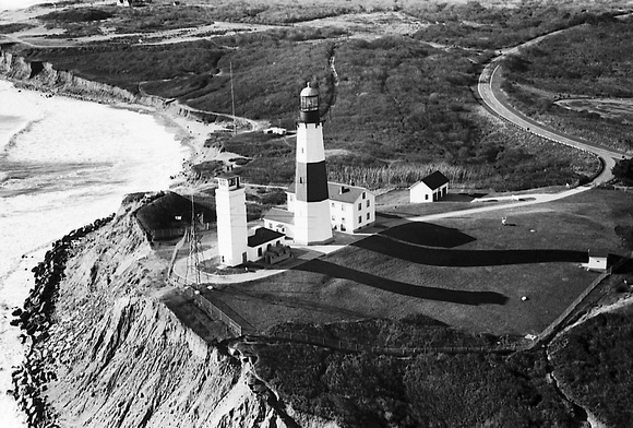Aerial view of Montauk Light House